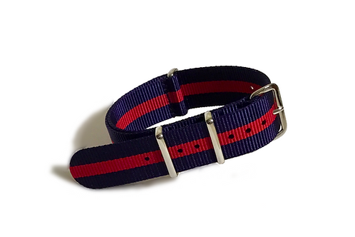 Signature Line Nylon -  Navy & Red (20mm/22mm)