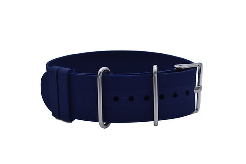Diver Strap - Rubber Silicone - Navy (18mm/20mm/22mm)
