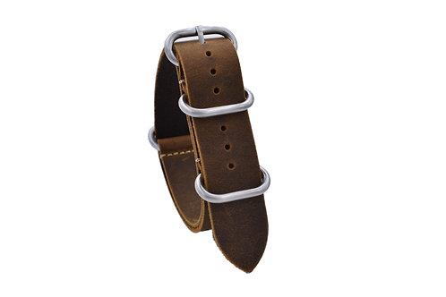 Heavy Duty One-Piece Leather - Dark Brown (18mm/20mm/22mm)