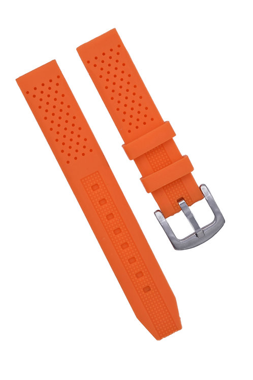Diver 2 Strap - Rubber Silicone - Orange (18mm/20mm/22mm)