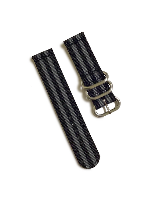 Heavy Duty 2-Piece Nylon  - Black & Gray (20mm)
