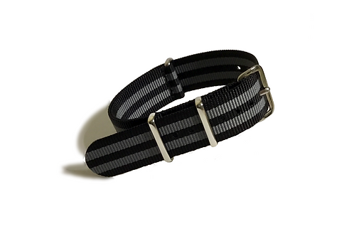 Signature Line Nylon - Black & Gray (Bond Style) (20mm/22mm)