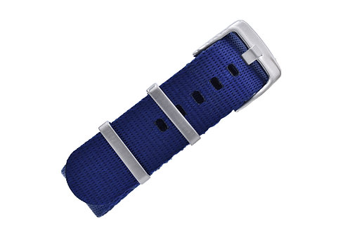 Signature Label Nylon - Navy Blue (20mm/22mm)