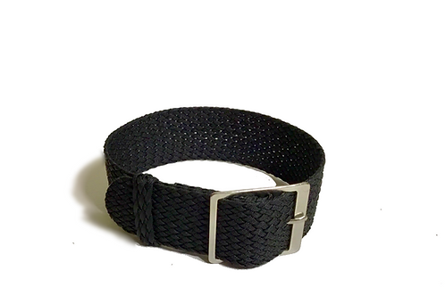 Perlon - Braided - Black (20mm)