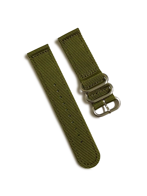 Heavy Duty  2-Piece Nylon  - Olive (22mm)