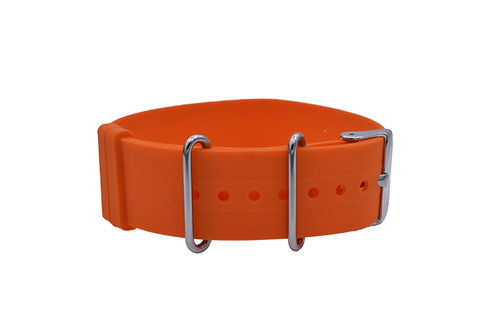 Diver Strap - Rubber Silicone - Orange(18mm/20mm/22mm)
