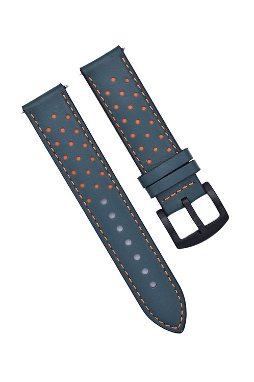 Perforated 2 Strap - Mint Green & Orange (18mm/20mm/22mm)