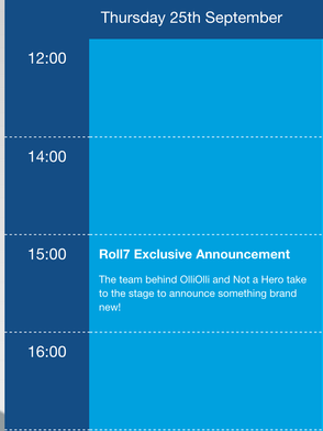 Roll7 Announcement on Thursday, 25th September - First Day of EGX