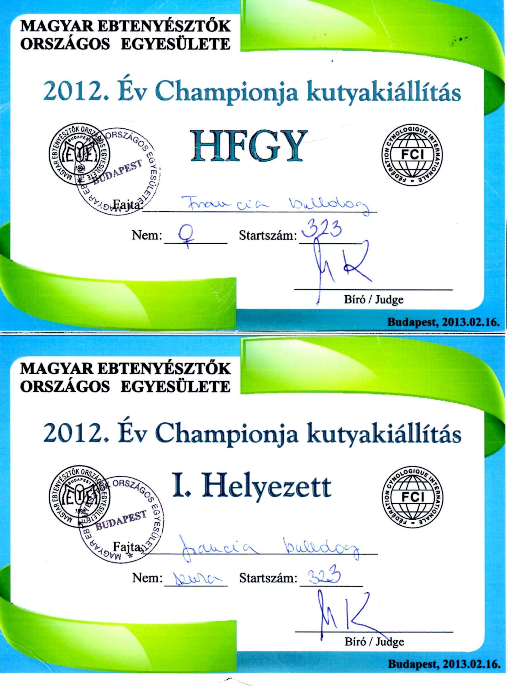 Champion Of Champion 2012