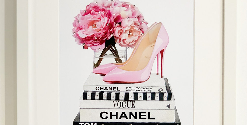 PINK BLOOMS & RED BOTTOMS