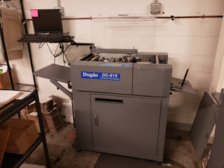 2007 Duplo DC-615 Automatic Creaser and Perforator