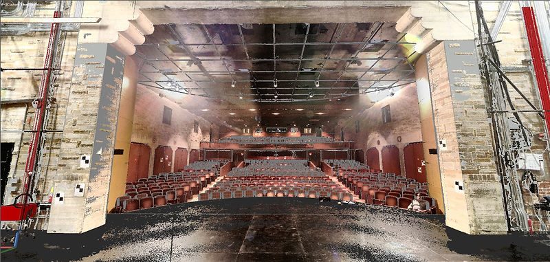 Geffen Playhouse Point Cloud and AutoCad Model Overlayed