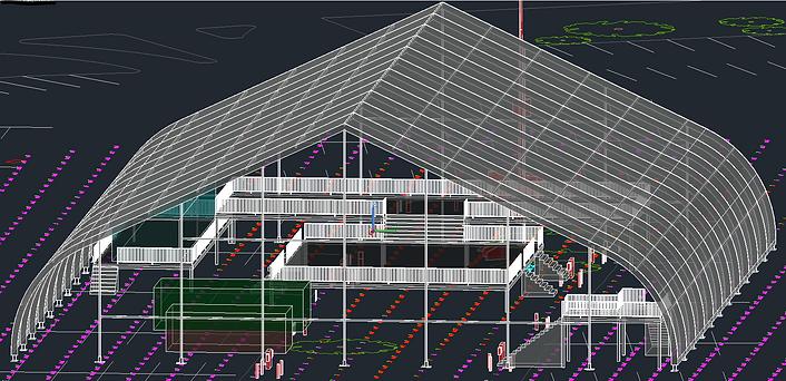 Site Plan AutoCAD 3D Mode