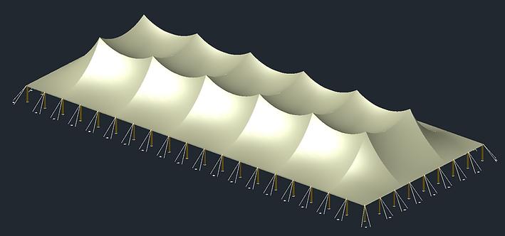 Pole Tent 3D AutoCAD Model
