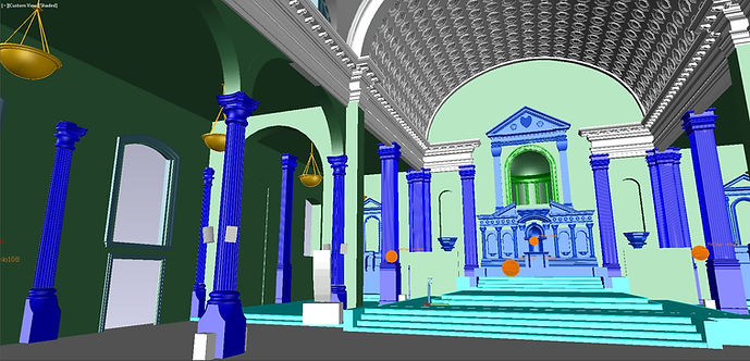 3D Autocad Model of Vibiana