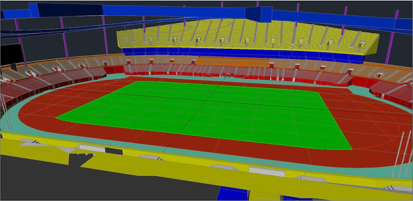 INCHEON MUNHAK STADIUM 3D Model