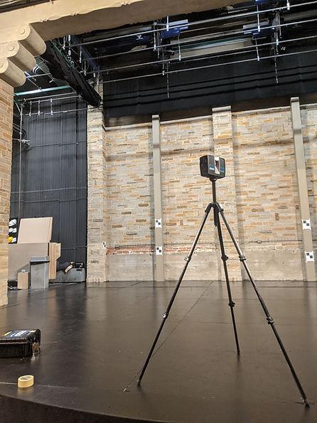 3D Laser Scanner on Geffen Playhouse Stage
