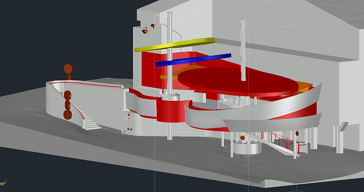 3D Model of Lase Scanned Venue