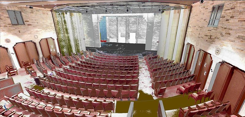 Geffen Playhouse Point Cloud and Autocad Model Overlay