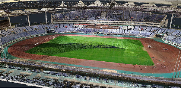 INCHEON MUNHAK STADIUM 3D Scanner Point Cloud