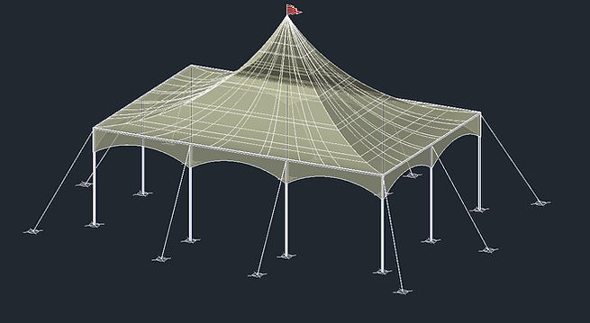 Marquee Tent 3D AutoCAD Model