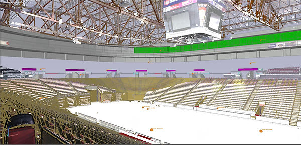US Bank Arena Point Cloud and Model Overlay