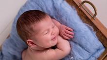 Eerste glimlachjes: newbornsessie