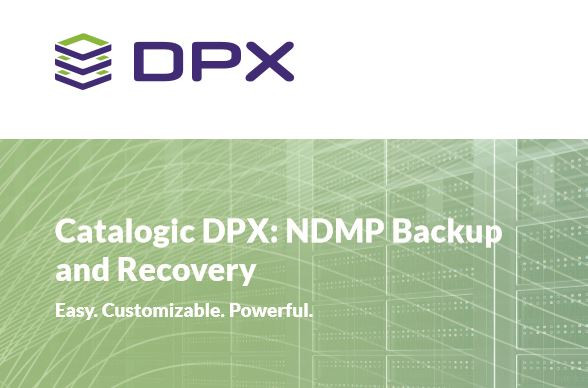 Optimised NDMP backup (Network Data Management Protocol)