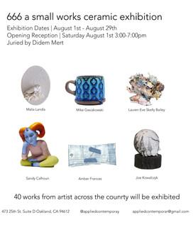 666 Small Works Ceramic Exhibition
