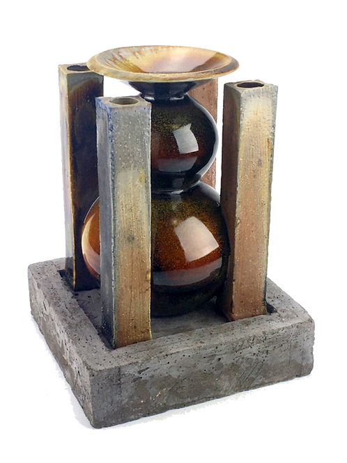 Quad Vase with Plinth