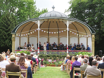 Ceremony on Royal Victoria Park Bandstand