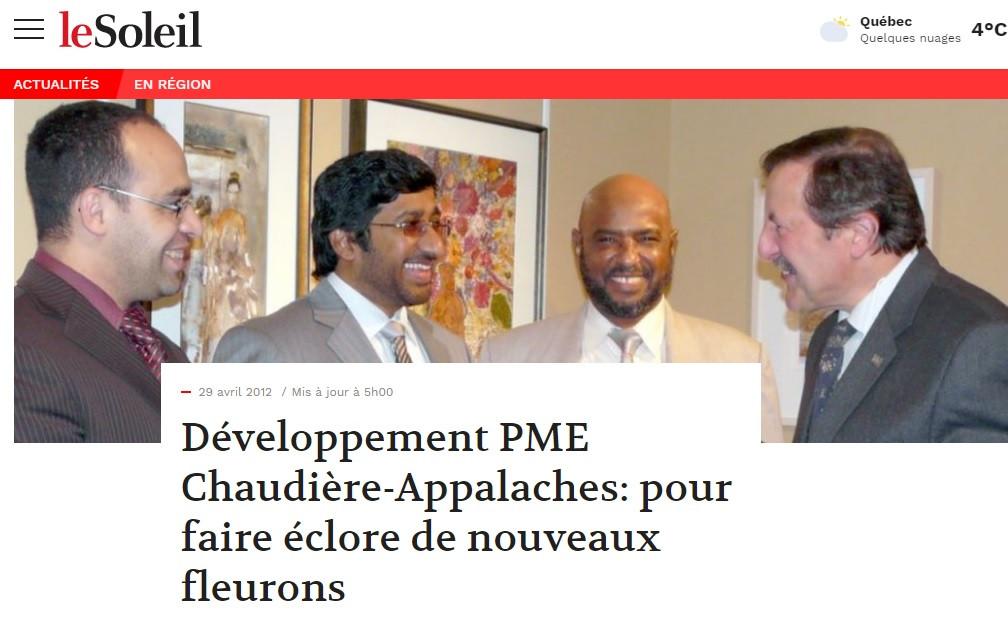 JOURNAL LE SOLEIL -2012