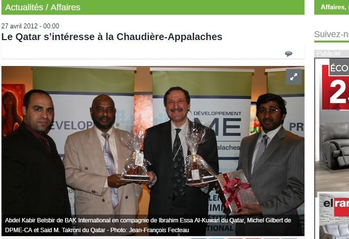 Journal Région de Beauce -2012