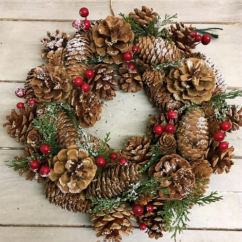 Berry and Pinecone Wreath