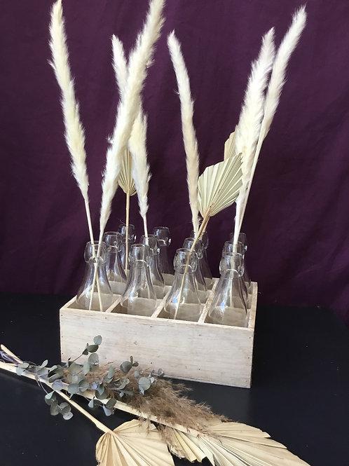 Bud vase set and tray