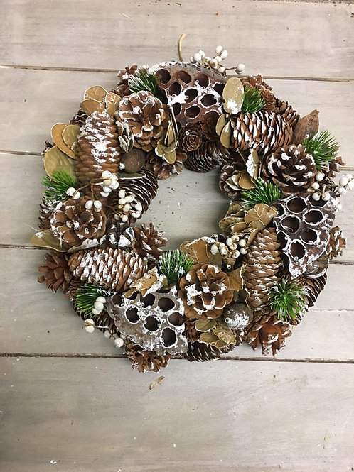 Frosty Pinecone Wreath
