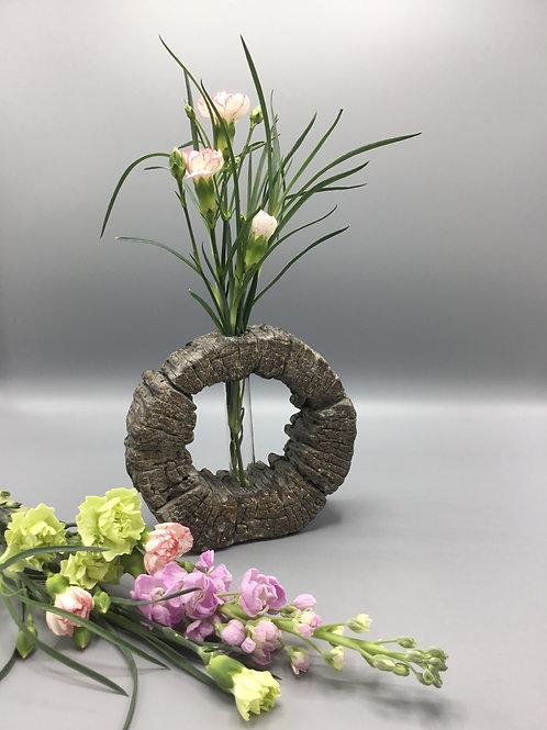 Stone base bud vase