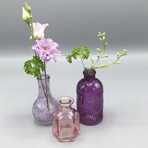 Mini bud vase set