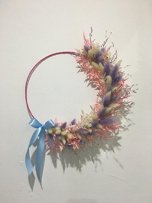 Dried bunny tail wreath