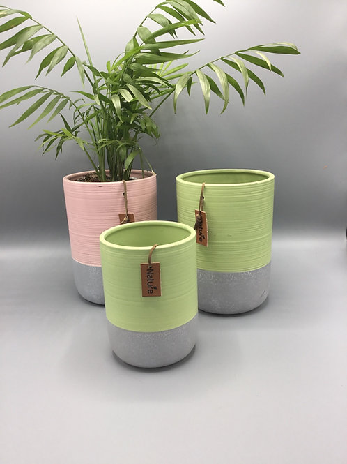 Nature pink or green flower pots