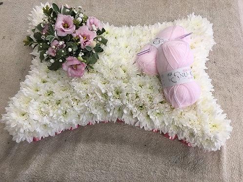 Bespoke wool lovers pillow