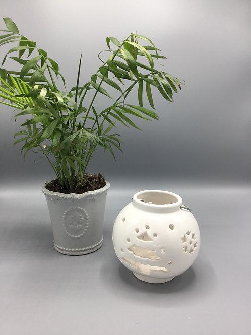 White tree tea light holder