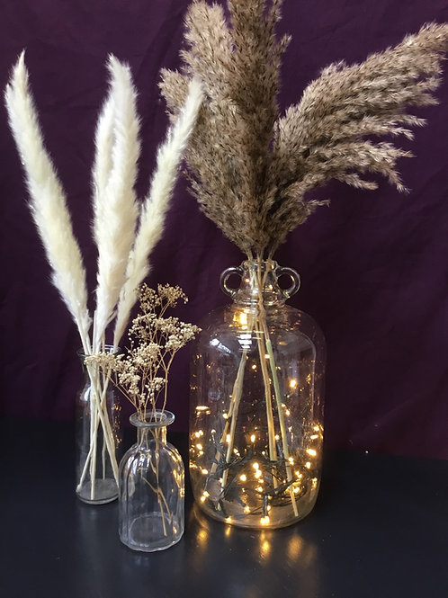 Glass bottles decoration