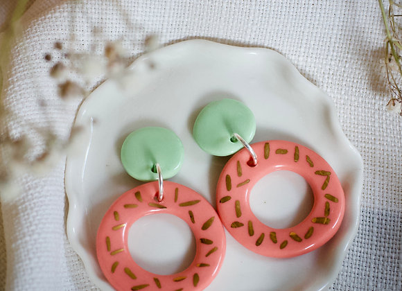 Ada lime and coral hoops