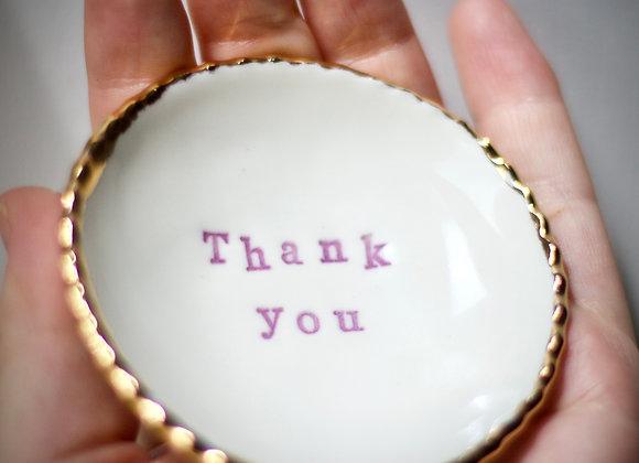 'Thank you' trinket dish