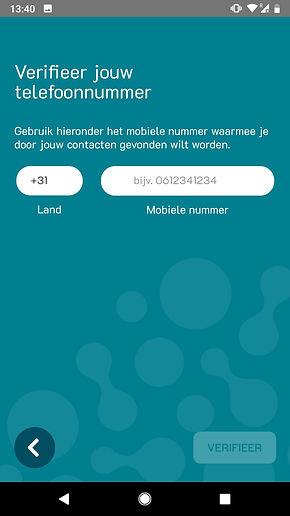 Phonebook mobiel nummer invullen