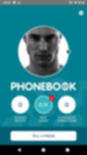Phonebook - Thuisscherm