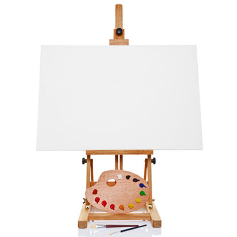 Blank painting canvas, waiting for you.