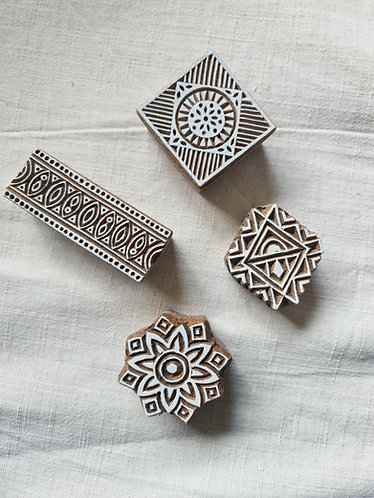 Wood Print Blocks (set of 4)
