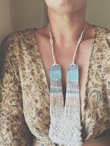 Handwoven Landscape Necklace